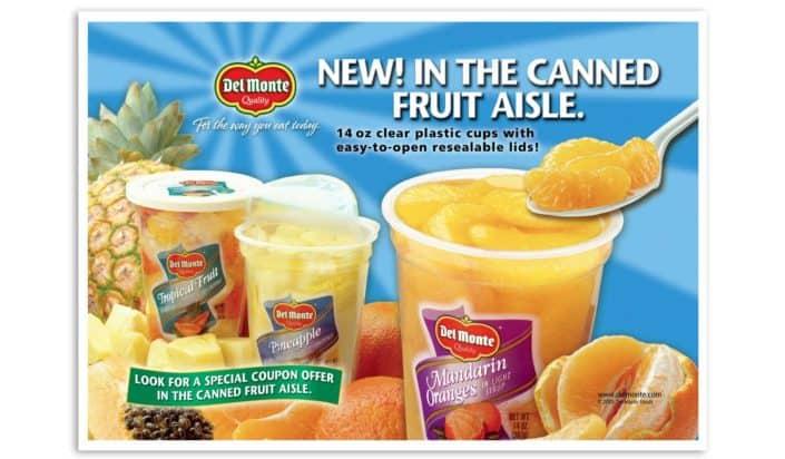 Del Monte grocery cart ad designer