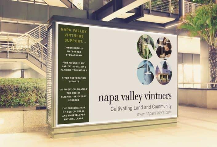 Napa Valley Vintners wine ad design