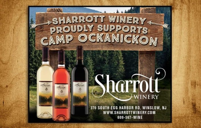Sharrott winery camp ad design