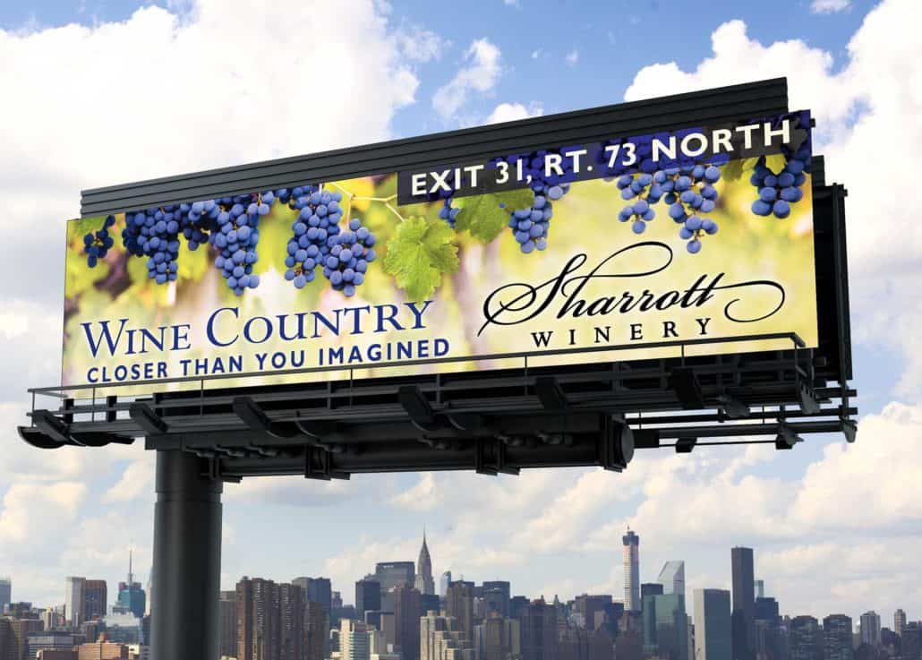 Wine country billboard NJ