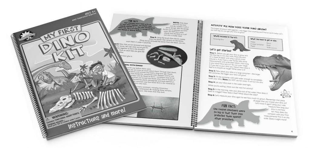 dinosaur instruction booklet designer large 1