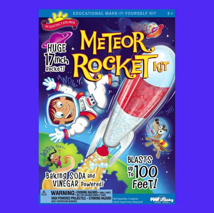 meteor rocket kid package designer 1