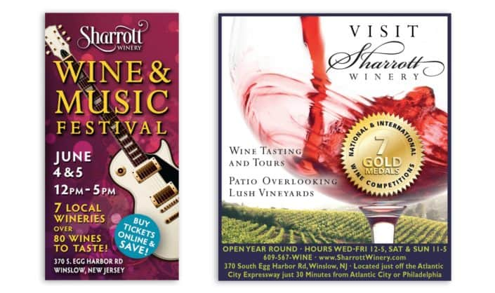 music festival winery ad design