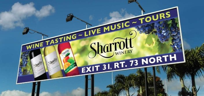 sharrott winery billboard