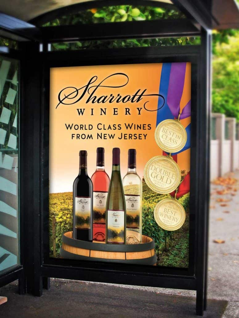 window bus winery poster