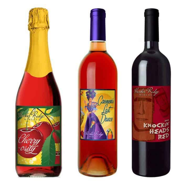 wine label design harbor ridge large 2