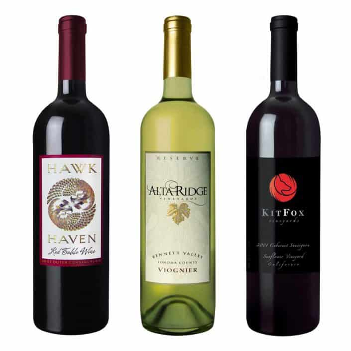 wine label design hawk alta large 1 1