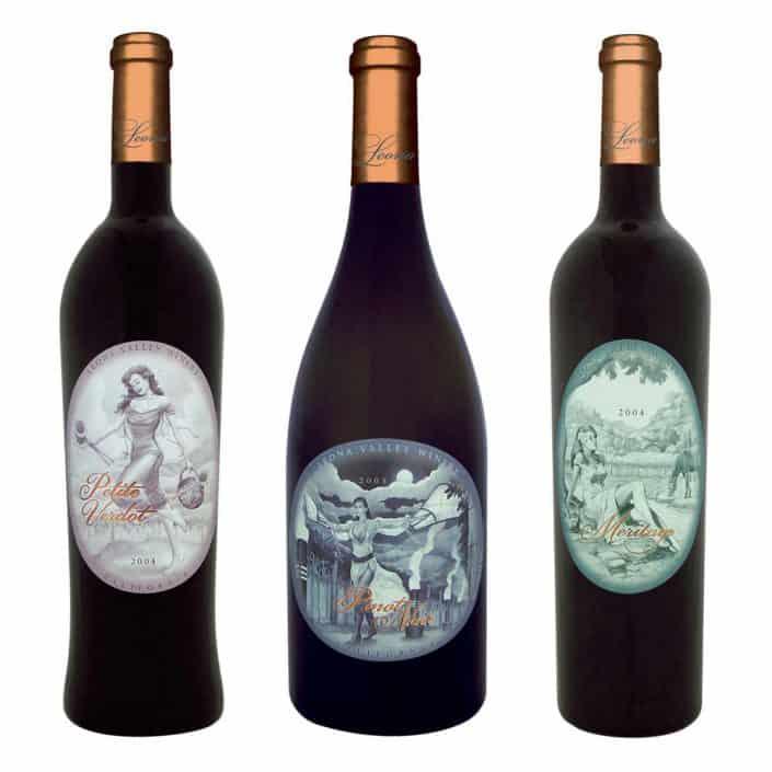 wine label design leona meritage large 1 1