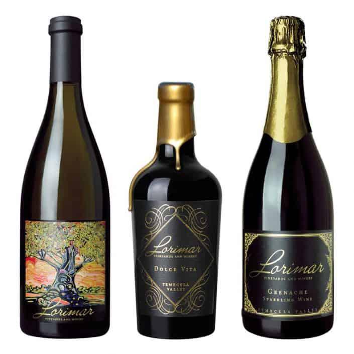 wine label design lorimar oak large 1 1
