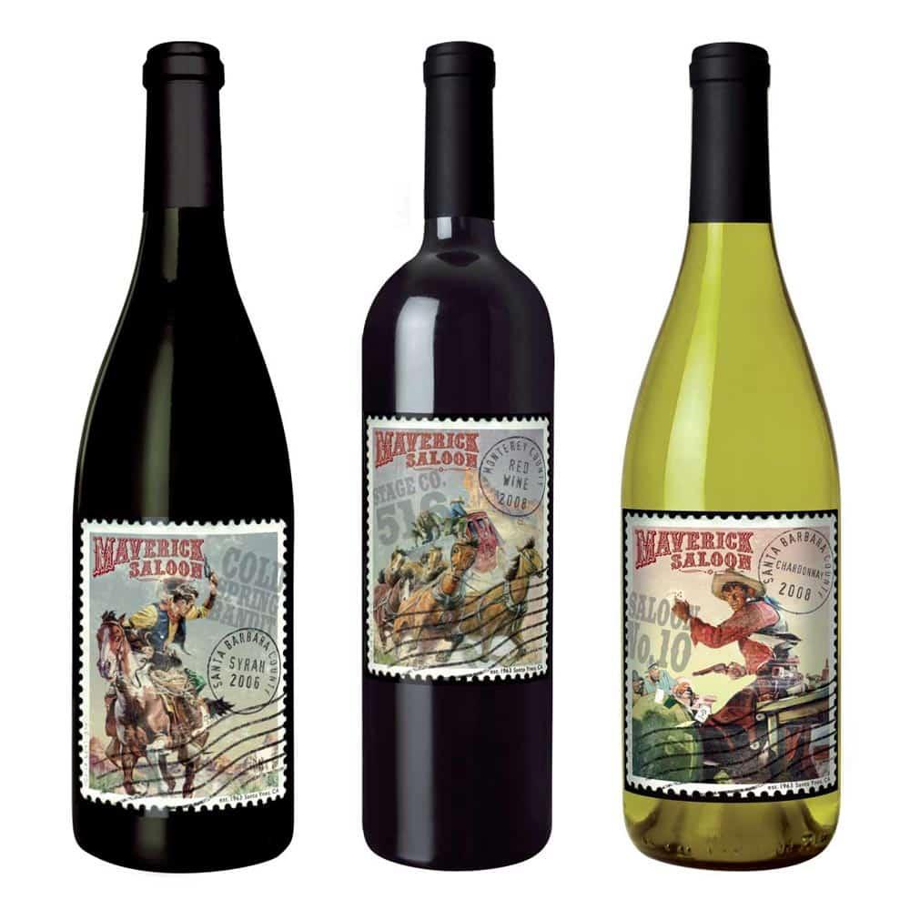 wine label design maverick western large 2