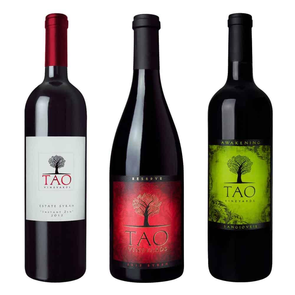 wine label design tao red large 1 1