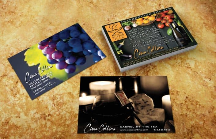 winery cima ads graphic designer