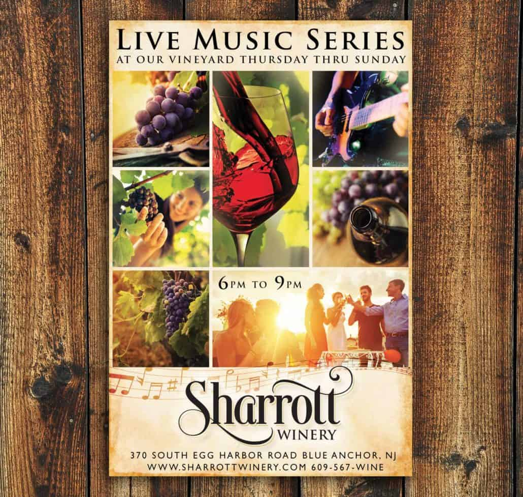 winery music vineyard ad