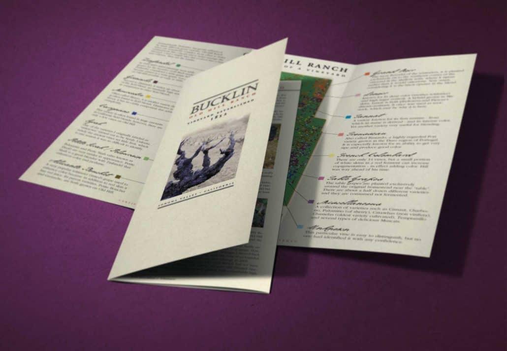 Bucklin wine brochure