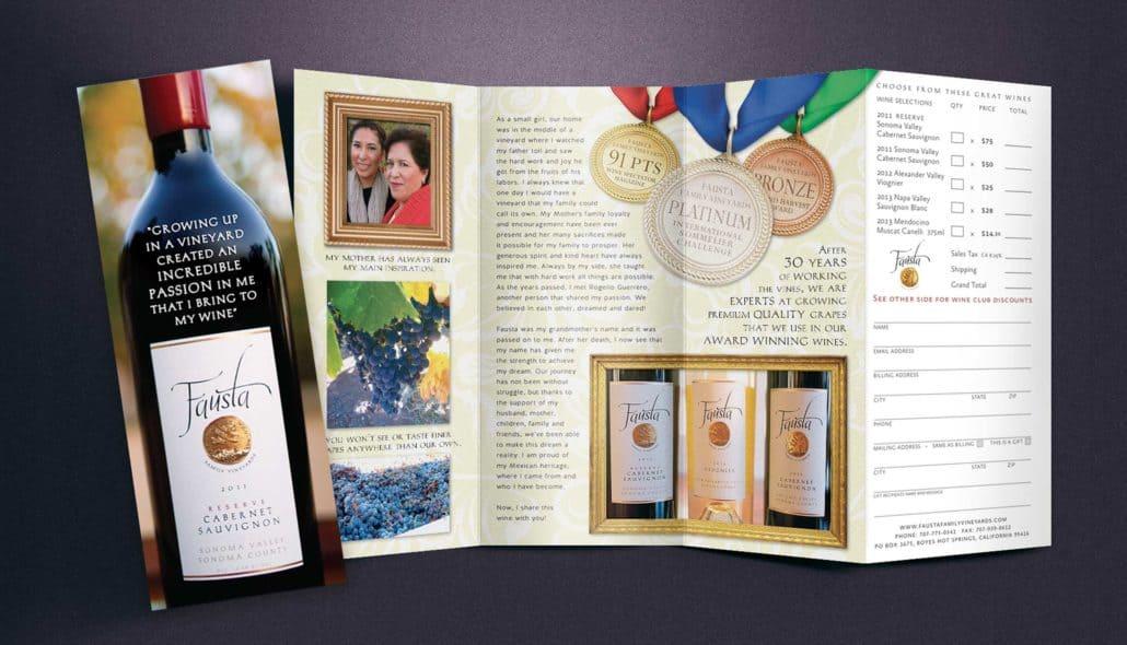 Fausta winery brochure