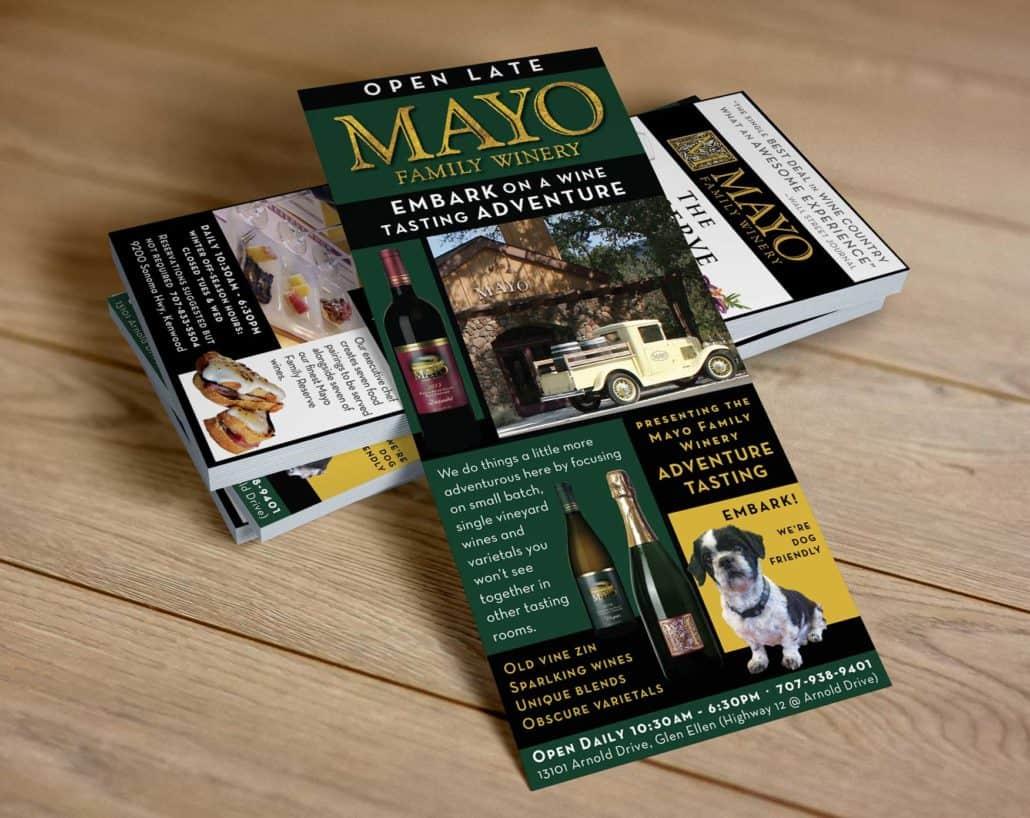 Mayo winery Rack card designer