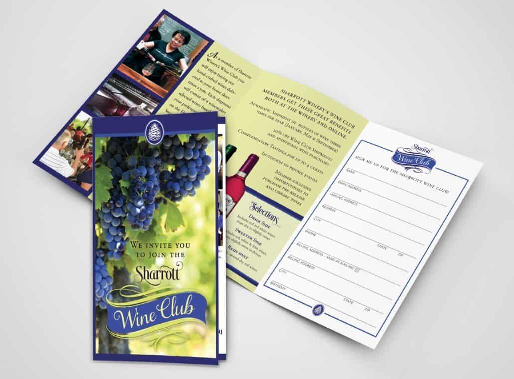Sharrott winery brochure design