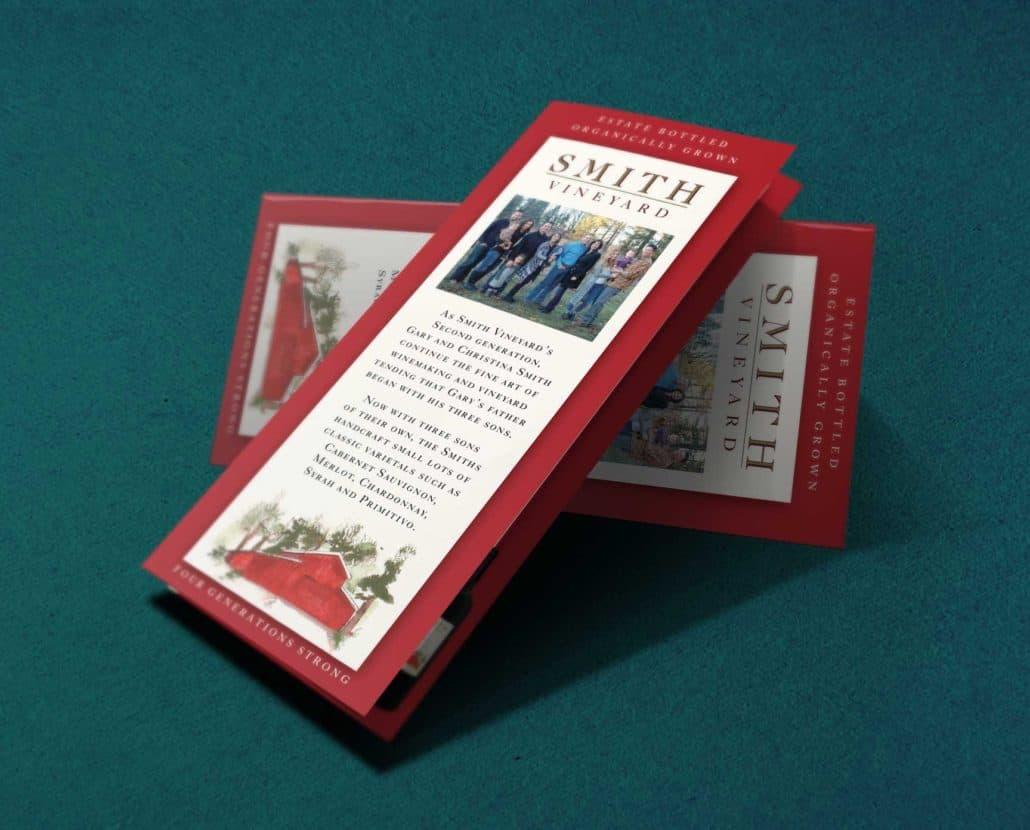 Smith vineyard brochure designers