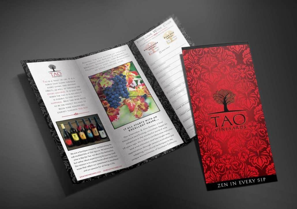 TAO winery brochure