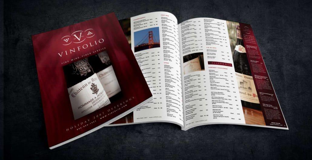 vinfolio wine brochure design